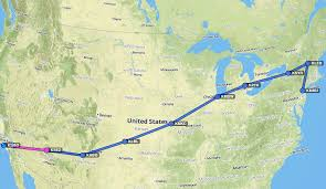 Lbl Map Crossing The Country Flying Summers Brothers