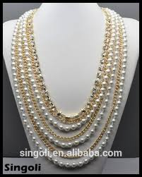 long necklace designs images Wholesales fashion 2014 multi strand gold long chain pearl jpg