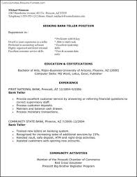 Bank Teller Resume Examples by Bank Teller Resume Templates Free Samples Examples U0026 Format
