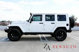white jeep wrangler unlimited lifted 2010 jeep wrangler unlimited 4x4 4dr suv custom lifted navi