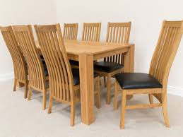 8 Chair Dining Table Set Oak Dining Tables And Chairs Marceladick Com