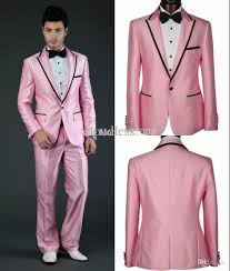 custom made 2014 design groom wholesale pink wedding suit for 2015 custom made groom tuxedos