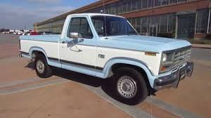 ford truck blue 1984 blue u0026 white ford xlt truck walkaround youtube