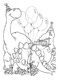 coloriage anniversaires dinosaures