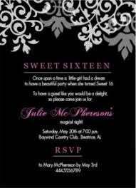 Pink And Black Sweet 16 Decorations 16th Birthday Invitation Wording Ideas From Purpletrail