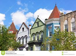 Row Houses by Colorful Row Houses In Washington Dc Usa Stock Photo Image