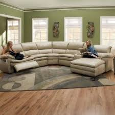 Brown Leather Sectional Sofas With Recliners Curved Reclining Sofa Foter