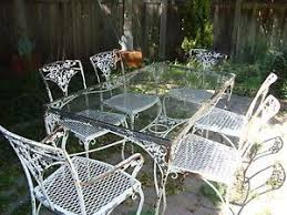 Wrought Iron Patio Table And Chairs Vintage Woodard