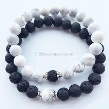 bracelet handmade jewelry images Online cheap natural stone bracelets new lava volcanic stone white jpg
