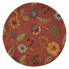 decoration round red area rug 6 foot round red area rug trellis