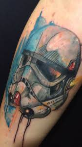 gisa tattoo stormtrooper tattoo aquarela youtube