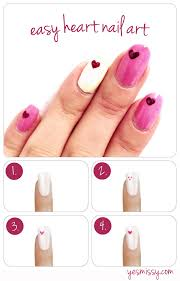 diy how to create heart nail designs