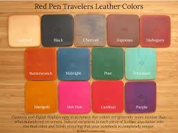 Matching Colors Duo Set Two Matching Solid Color Leather Traveler U0027s Notebooks