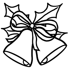 christmas tree outline on black clipart 2133608