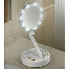 gatco bathroom mirrors lighted magnifying mirror travel lighted