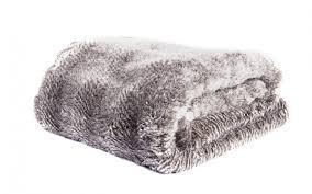 Faux Fox Fur Throw Oyster Grey Faux Fur Throw Tielle Love Luxury Love Luxury