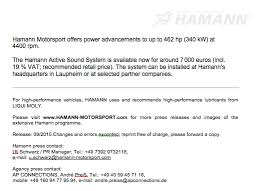 ksa resume examples hamann motorsport active sound gateway for bmw x5 and x6 m50d page 2