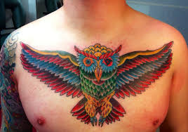 large flying owl on chest in 2017 photo pictures