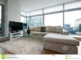 contemporary livingroom contemporary living room with designer furniture stock image