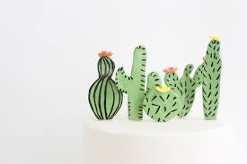 cactus sugar decoration cacti sugar toppers cactus cupcake