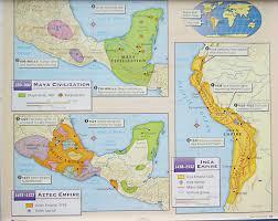 aztec mayan inca map copy of inca lessons tes teach