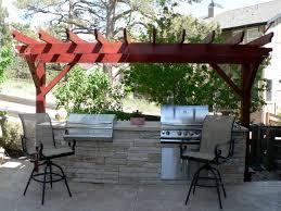 Pergola Outdoor Kitchen Portfolio Craftsman Outdoor Living