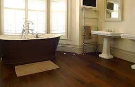 wooden laminate flooring with cream wall paint decoration brown