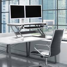 edw 4201d ergodirect dual monitor sit stand desktop workstation white