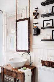 bathroom mirrors ideas best bathroom decoration 38 bathroom mirror ideas to reflect your style freshome collect this idea hanging wood mirror