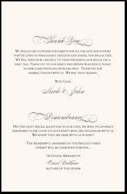 thank yous on wedding programs in remembrance wedding program wedding program thank you wording
