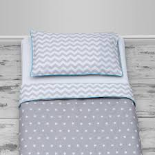 white stars on grey u0026 grey chevron design with blue piping ta da