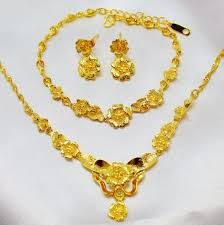 3 gram gold earrings 2018 bridal wedding jewelry gold necklace bracelet earring the