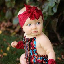 baby headwraps fashion kid child baby wrap top knot lace solid bow vintage