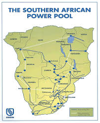 Map Of Southern Africa by Map Of South African Electricity Grid South Africa National