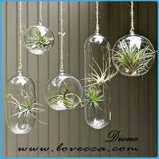 unique hanging glass flower vases wholesale white