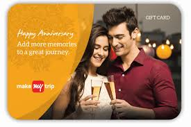 Gift Cards   Buy Gift Vouchers Online  Gift Vouchers   MakeMyTrip com MakeMyTrip Anniversary GiftCard