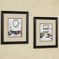bath framed wall art cream set of two framed pictures for