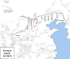 Map Of The Great Wall Of China by Xiongnu Attack At The Great Wall 142 Bce