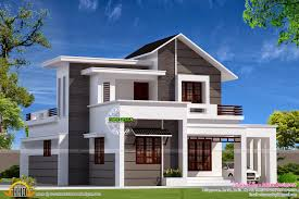 modern mix small double storied house kerala home design and