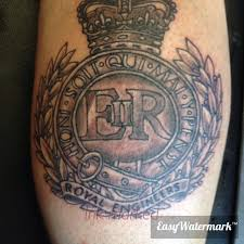 tattoo ideas for engineers royal engineers calf tattoo grs pinterest royal