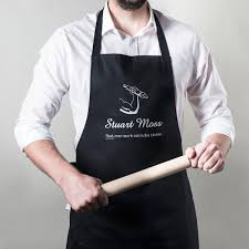 Men Cooking Aprons Personalised Apron Real Men Work Out In The Kitchen