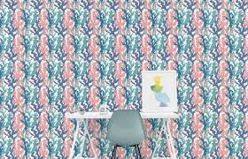 coral wallpaper sea wallpaper ocean wallpaper peel and