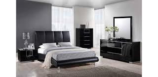 8272 bl leather black platform bed global furniture