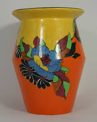 Indian Vases Clarice Cliff Wilkinson Vase In The Indian Summer Design Height 20cm