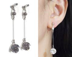 how to make clip on earrings comfortable dangle teardrop orange cubic zirconia invisible clip on earrings