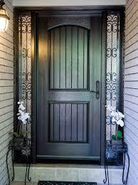Custom Fiberglass Doors Exterior Fiberglass Door System Large Bottom Panel With 2 Custom Wrought