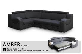 Leather Corner Sofa Beds Uk by Universal Hand Corner Sofa Bed Amber Black Fabric U0026 Faux