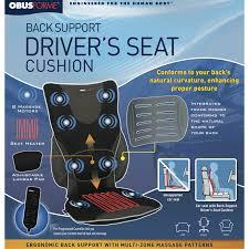 drivers u0027 seat heated backrest with lumbar pad massage obusforme