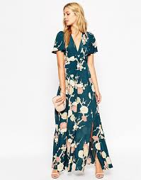 Wedding Maxi Dresses Asos Asos Wedding Maxi Dress With Wrap Front In Floral Bloom