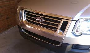blacking out my grill with plasti dip ford explorer and ford